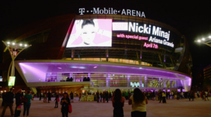 T-Mobile Arena at night